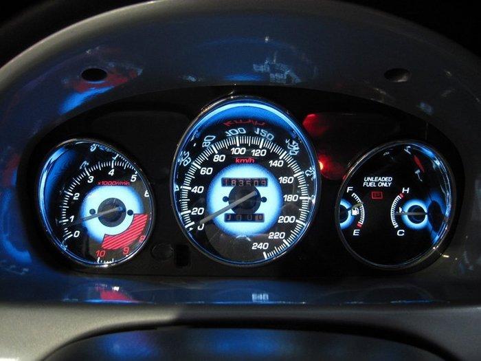 《達克冷光實體店面 現貨供應》HONDA K8 漸層藍高反差冷光儀表  三環筒身(需另購)