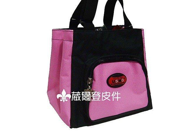 《葳爾登》UNME兒童手提袋便當袋補習袋文具袋購物袋共五色/UNME兒童餐袋型號3112粉紅