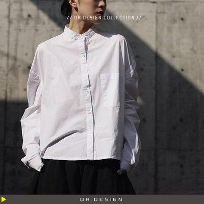 4/15新品►DR.DESIGN│DR31372-暗黑風 個性 大口袋 寬鬆 中性 棉質 長袖襯衫