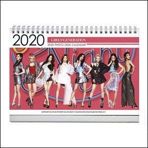 【 特價 】少女時代 Girls' Generation 少時 韓國탁상용 달력  2020 2019 直立式照片桌曆