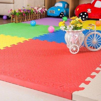 兒童拼圖泡沫地墊60 60加厚2.5cm拼接爬行墊臥室防滑防摔地板墊子   IGO