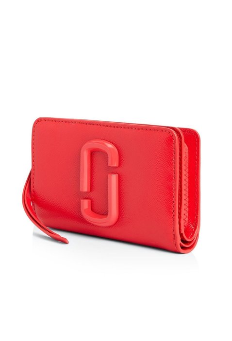 Coco 小舖MARC JACOBS Snapshot Compact Leather Wallet 紅色