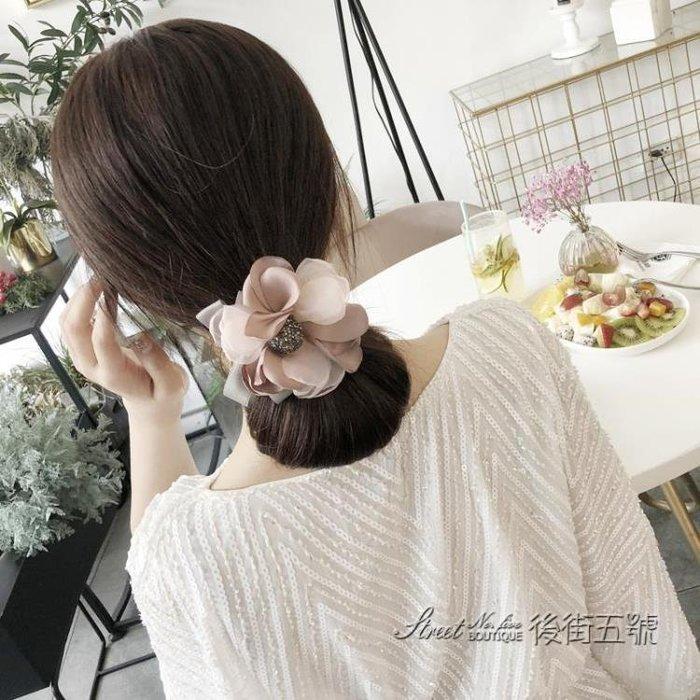 丸子頭花朵盤髮器韓國頭飾百變花苞頭扎頭髮盤髮造型神器髮飾