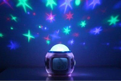 【星空投影鬧鐘】星空萬年曆 投影燈鬧鐘 音樂星空投影鐘 鬧鐘 創意鬧鐘 七彩投影鬧鐘