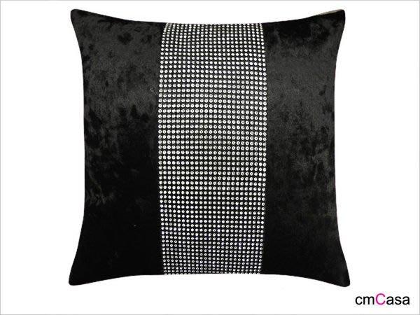 = cmCasa = [3353]極奢華時尚設計 水鑽帶COCO絲絨抱枕套 冬天富貴發行