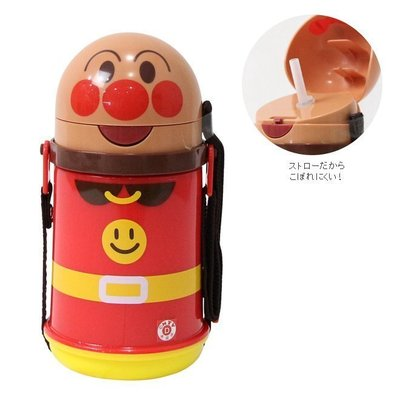 日本 麵包超人Anpanman保冷吸管水壺