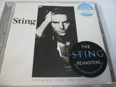 Sting / Nothing Like the Sun remastered版 附Englishman in NY影片