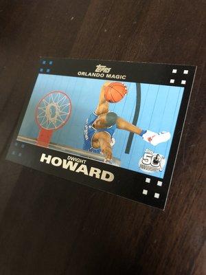 DWIGHT HOWARD   2007 TOPPS 50紀念卡 14 卡片如圖