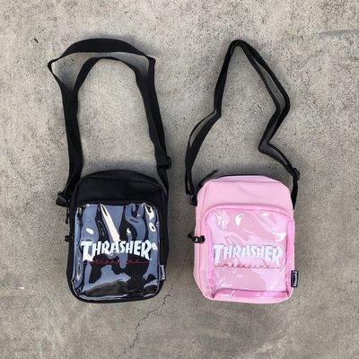 ☆LimeLight☆ THRASHER Hometown Clear Shouder Bag 透明包 小包 黑/粉