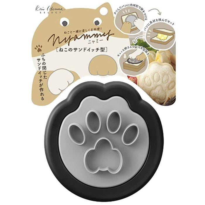 [霜兔小舖]日本代購 日本製 Nyammy  貓掌造型 吐司模  貓咪肉球造型  吐司壓模