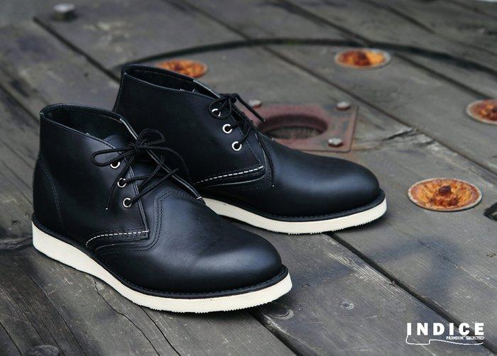 INDiCE ↗ Red Wing Classic Chukka 3151 低筒工作靴 經典黑