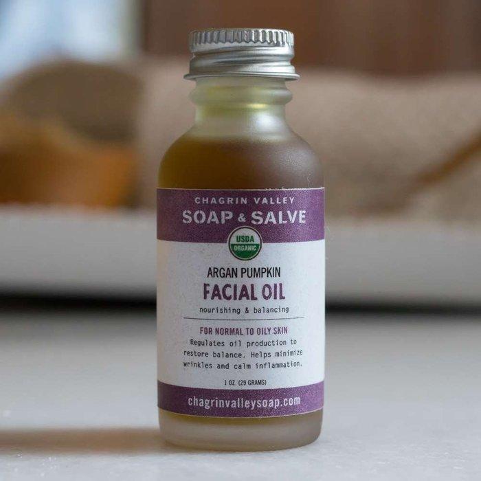 美國Chagrin Valley 有機摩洛哥堅果&南瓜籽油臉部保養精華油 1OZ(約77g)