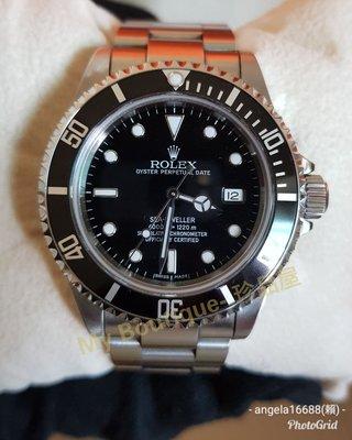 ♡現貨♡【My Boutique-珍品屋】國內AD單(2007年)勞力士Rolex 16600 Sea-Dweller 1200米海使型黑水鬼~Z字頭~錶耳沒洞