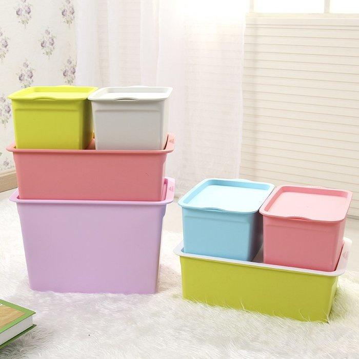 加厚大號帶蓋衣服收納箱塑料儲物箱內衣物整理箱玩具化妝品收納盒