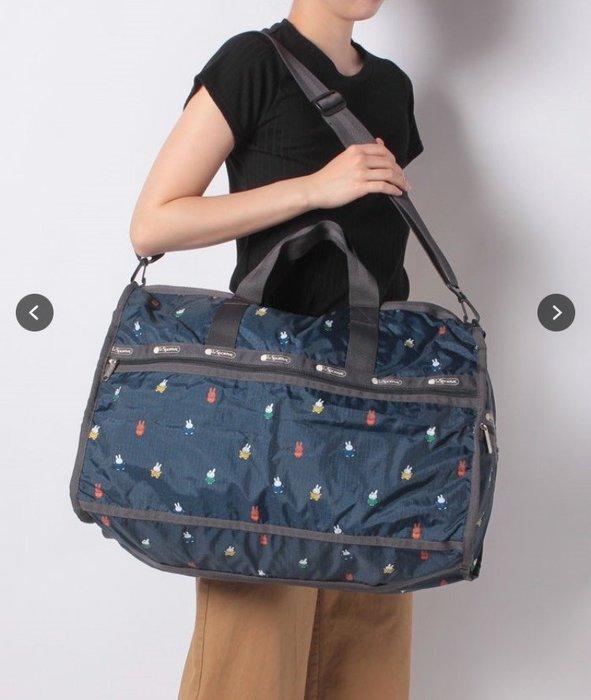 ♥ 小花日韓雜貨 -- lesportsac 7185  miffy大款中款旅行袋出國出差行李包