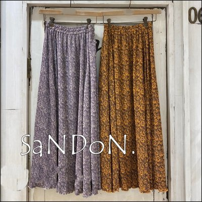  SANDON UNGRID 十月新品 鬆緊花朵印花長裙 MOUSSY sly 201014