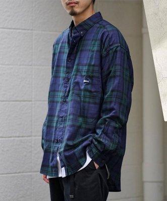 21ss descendant HYANNIS B.D LS SHIRT FULL SIZE navy 深藍色/卡其色 格紋襯衫