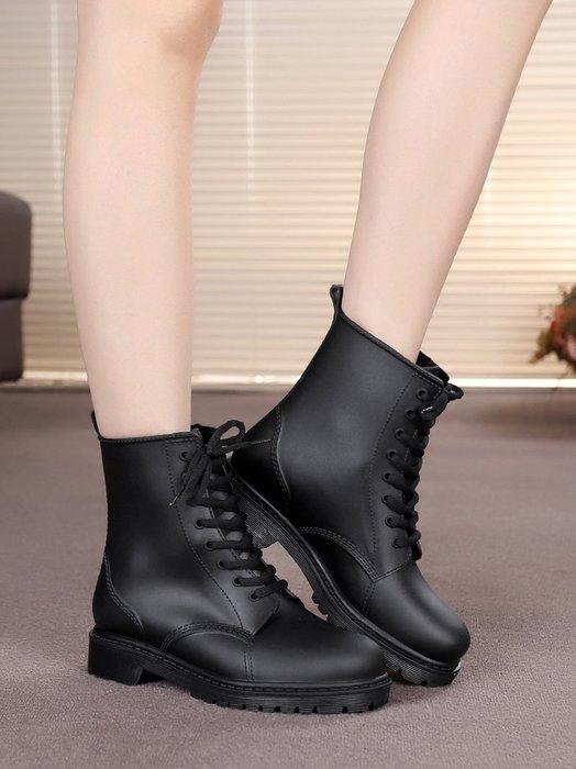 999情侶馬丁雨靴成人雨鞋女時尚款外穿短筒水鞋大碼膠鞋防滑套鞋YC0310