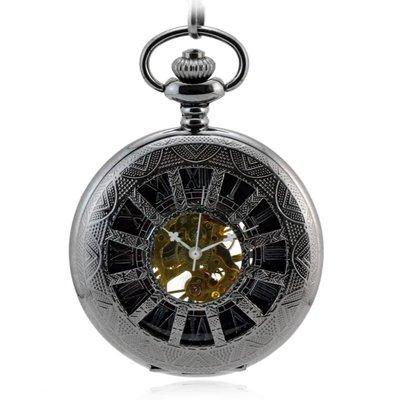 十二孔鎢鋼黑X59 復古懷表 機械懷表 男女士學生老人古董手表