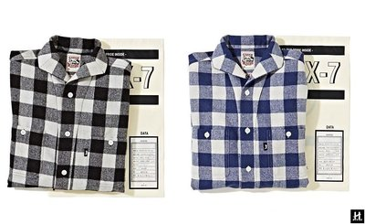 【HOMIEZ】STUSSY SHAWL COLLAR CHECK SHIRT【NXSSRDTCS2】法藍絨 格子襯衫