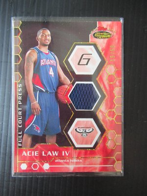 07-08 TOPPS  ACIE LAW IV/JEFF GREEN  RC JERSEY 15/50 87/199