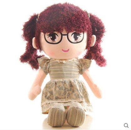 【興達生活】HPPLGG經典款小小公主布娃娃可愛小女孩兒童毛絨玩具公仔生日禮物