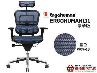 【豪優人體工學椅專賣店】Ergohuman 111豪華版MATREX網(含補強腰靠)