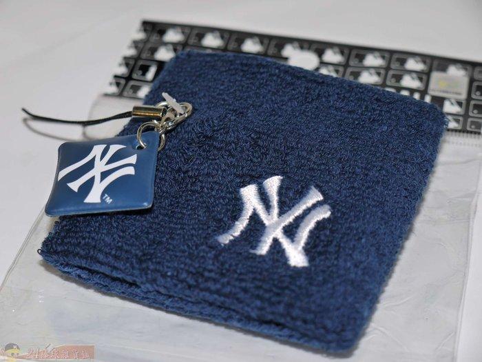 貳拾肆棒球-日本帶回美國職棒大聯盟MLB紐約洋基手機吊飾護腕組