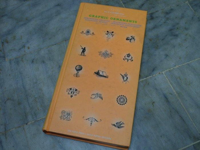 達人古物商《藝術、設計》Graphic Ornaments 圖案設計【附光碟】ISBN90576801 書況佳