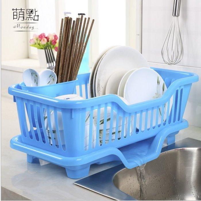 萌點 碗盤瀝水架 碗盤收納 瀝水盤 不發霉 減少細菌 大容量 廚房收納 洗碗【000190】