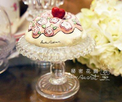 日本進口玻璃花形高腳小物盤/冰淇淋盤/...