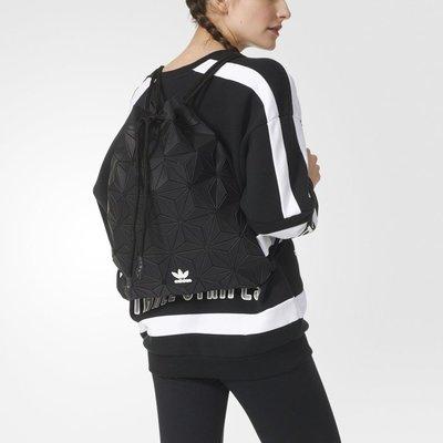 Sugar🍭Adidas Originals 3D GYM Sack 黑色 立體 束口袋 三宅一生 DH0209