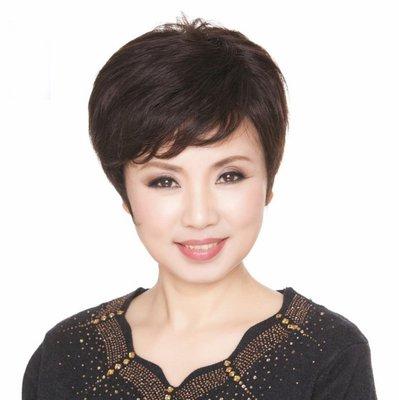 水媚兒假髮ZMF007HH♥新款女士真髮 高貴氣質媽媽真髮 短捲髮♥ 預購