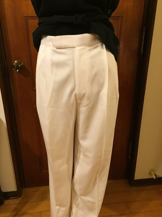 Ralph Lauren Polo 美國品牌 - 白色休閒長褲  - 送Polo七分袖一字領深藍色棉衫 (促銷商品)