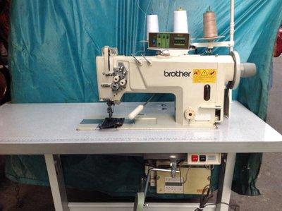 工業電腦縫紉機 最新型雙針車 8722(倍梭)自動切線 試車用展試機 適用成衣丶皮件