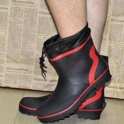 正品男士短筒冬季無棉雨鞋時尚新款男雨靴登山釣魚鞋水鞋套鞋防滑