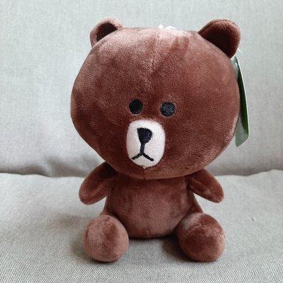 【kuttoi】全新LINE FRIENDS/TV Tokyo Lic by a.i.熊大絨毛玩偶公仔娃娃吸盤吊飾