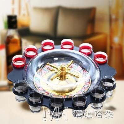 俄羅斯轉盤 KTV酒吧遊戲夜店喝酒轉盤游戲帶透明罩12杯輪盤        全館免運