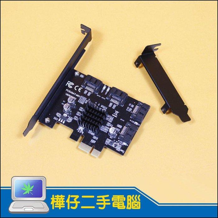 【樺仔3C】SATA3.0擴充卡 4孔 附短檔板 PCIE SATA3 轉接卡 支援8TB硬碟 支援Win10 群暉