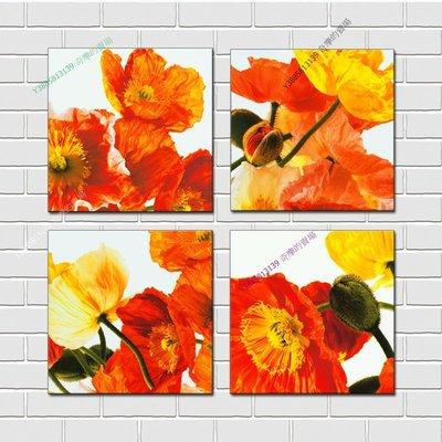 【40*40cm】【厚2.5cm】抽象紅花-無框畫裝飾畫版畫客廳簡約家居餐廳臥室牆壁【280101_193】(1套價格)