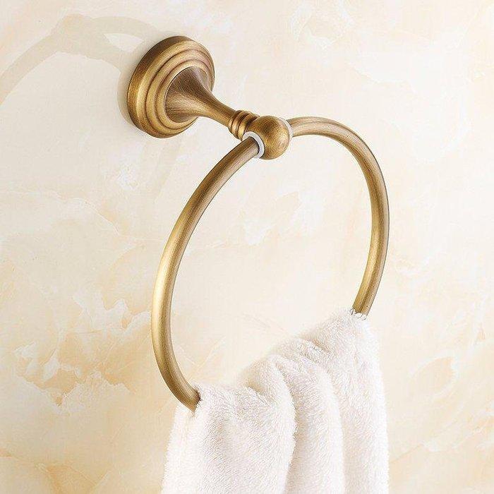 【安和衛浴】毛巾環 毛巾圈 全銅歐式復古毛巾掛環 浴室五金掛件 愛依拍賣品XL0809-15-A