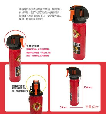 【皓翔】SECURE 警用鎮暴水柱板機式防身器  (SE-1060A1)