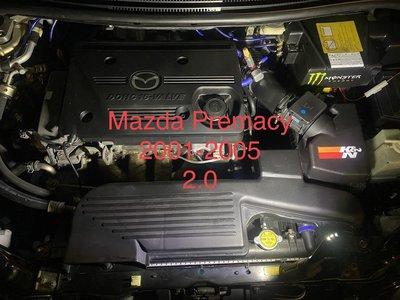 動力強化工程~MAZDA PREMACY 2001-2006 2.0 專用引擎考耳 考爾 負極接地線~大幅提高馬力~