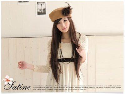 【促銷】Satine‧紗婷【Lena 款】日本萌系美少女 斜瀏海 超長直髮全頂式假髮