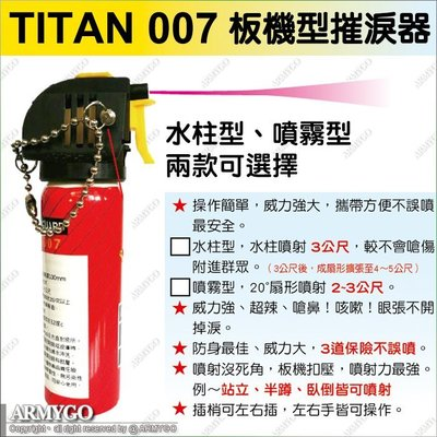 【PEACE ULTRA】TITAN 007 板機式防狼噴催淚器 (附隨身收藏皮套)