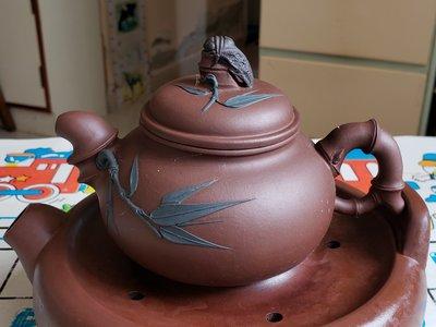 90年代三色紫砂壺 知足常樂 老泥料