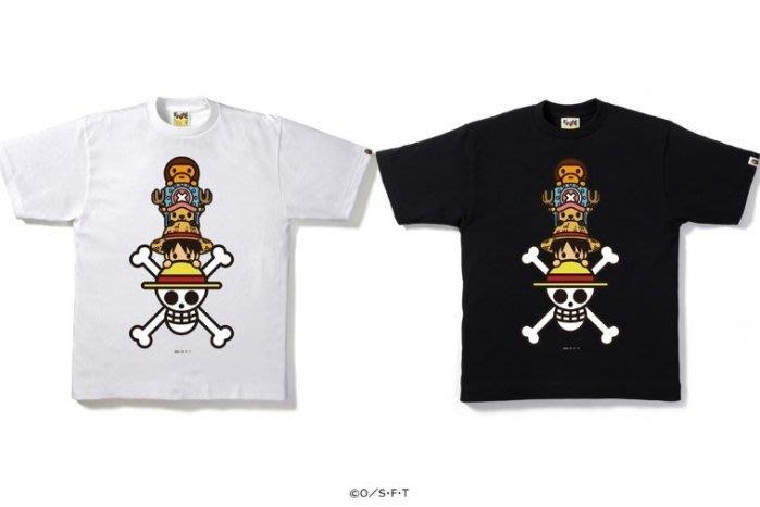 ☆AirRoom☆【現貨】BAPE ONE PIECE LUFFY&CHOPPERXMILO TEE 海賊王 伊勢丹