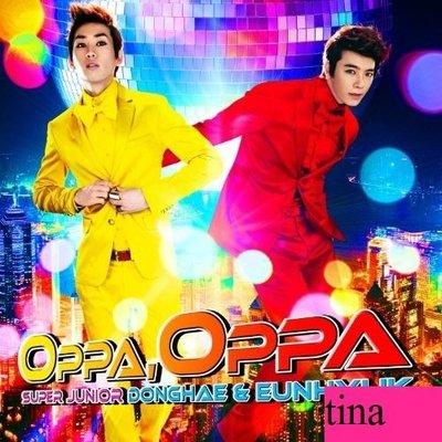 SUPER JUNIOR 東海銀赫日版第一張日文單曲Oppa, Oppa普通版加收First Love韓文版全新下標即售