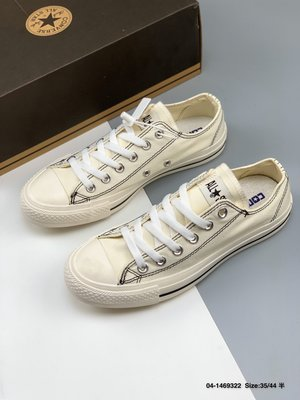 Converse ALL STAR STITCHING HI 日版匡威新款明線設計低幫休閒帆布板鞋
