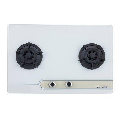 [歐瑞家居館] G2623G 玻璃櫻花瓦斯爐/林內/豪山/除油煙機/熱水器/烘碗機